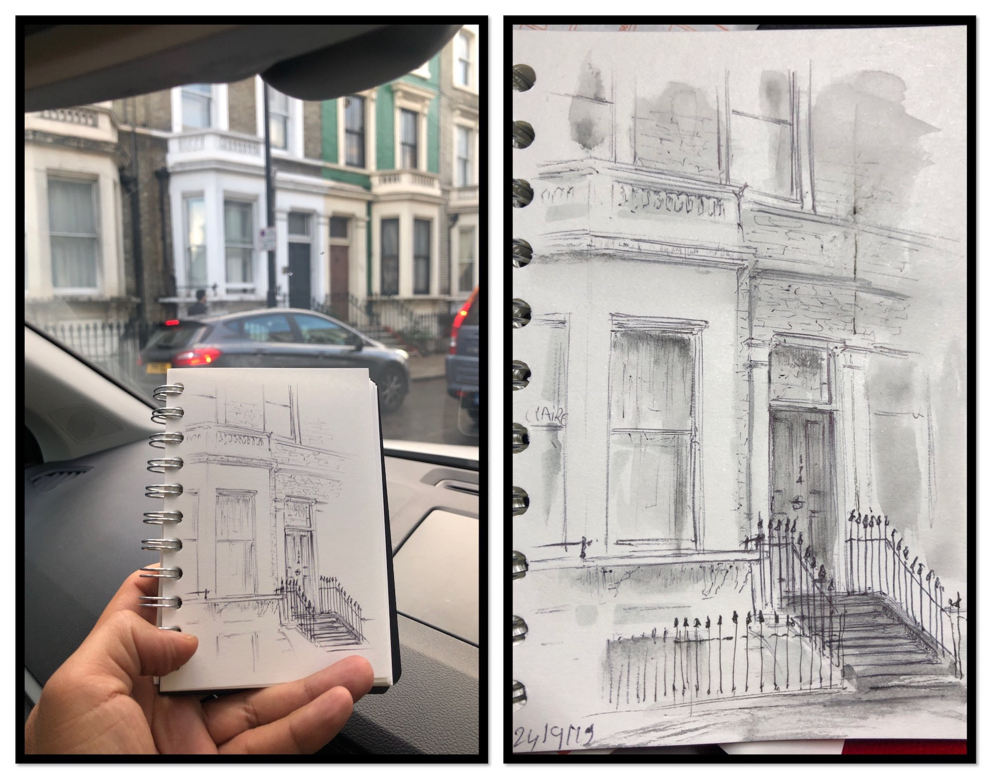 drawing ideas houses of london